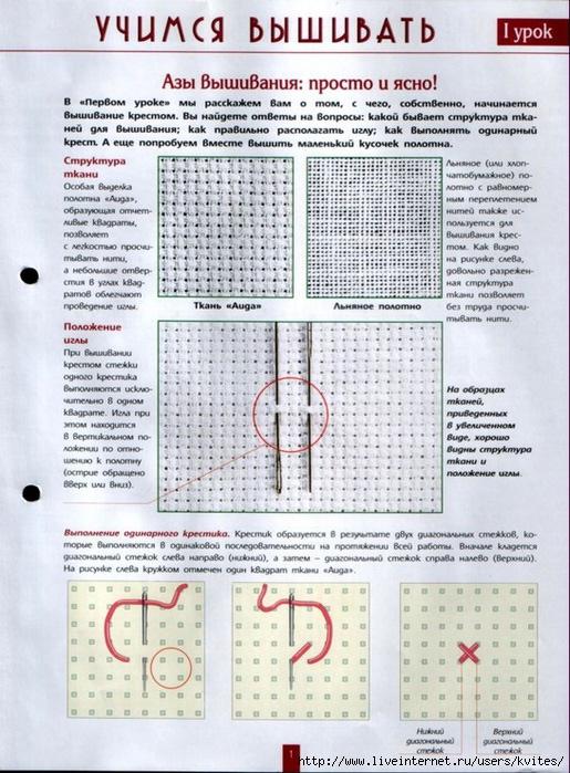 Инструкция по вышивке крестиком 818