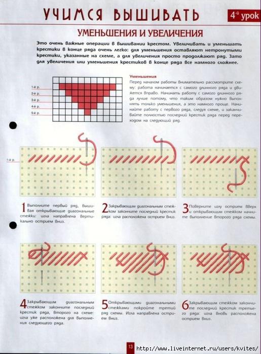 Вышивка правильно крестом схема 949