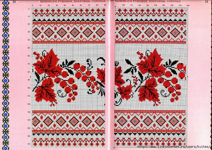 Узоры для вышивания крестиком на полотенце