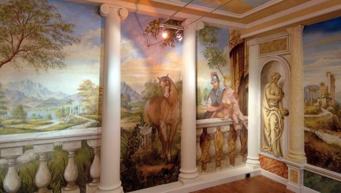 Fresco-office-design-horse-knights-landscape-mural (700x397, 87Kb)