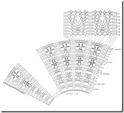 схема вязания веера