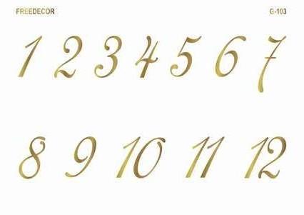 Красиво оформить цифры своими руками