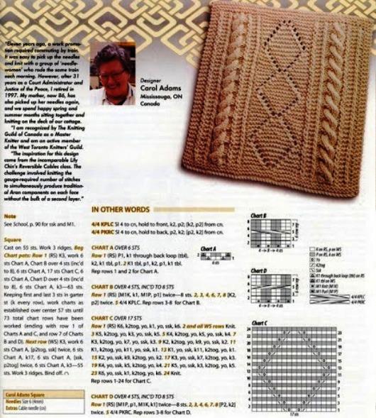 【转载】棒针单元花样 方块型 可做拼花毯或拼花衣