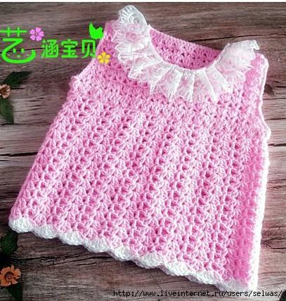 Платье вязаное крючком ажурное летнее нарядное для девочки/4683827_20120716_135823 (407x428, 174Kb)