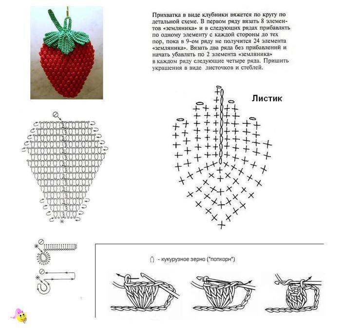 Вязание крючком для начинающих схемы с подробным описанием прихваток