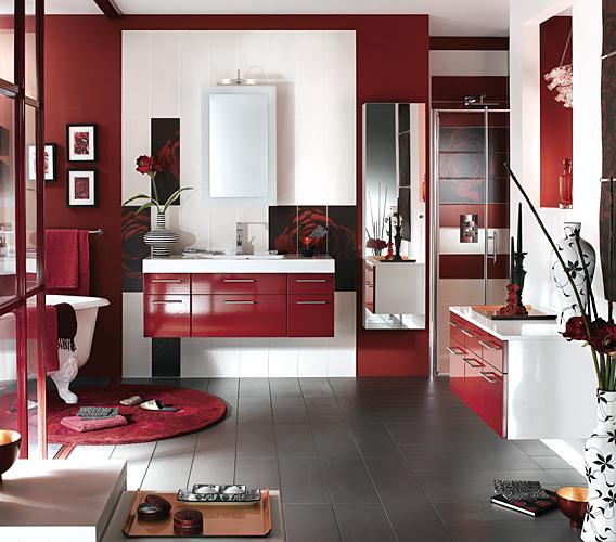 выпуска: Состояние: интерьер мебели в ванной в бордовом цвете выбор