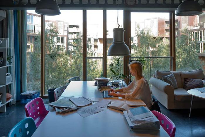 студенческое общежитие в Копенгагене фото 7 (700x466, 131Kb)