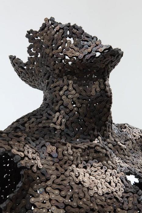 скульптуры из велосипедных цепей 3 (466x700, 96Kb)