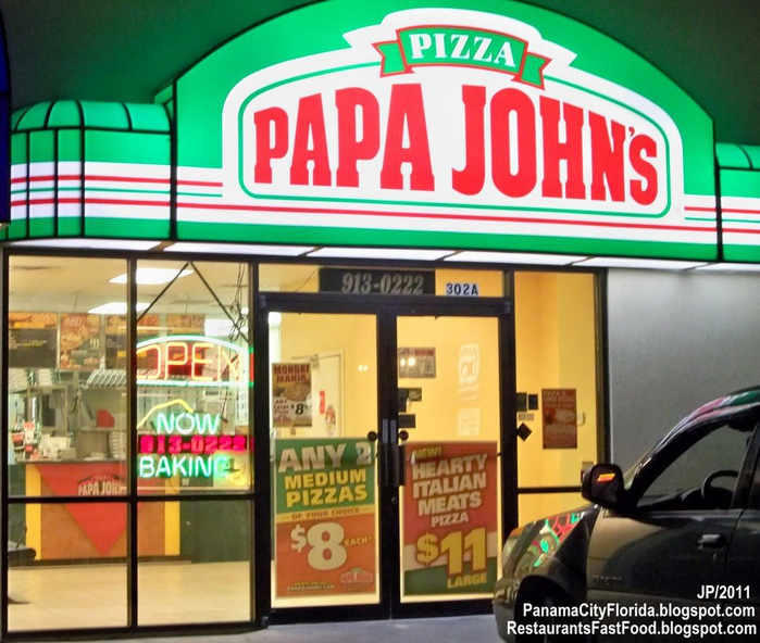 PAPA JOHN'S PIZZA PANAMA CITY FLORIDA, Papa John's Pizza Delivery Restaurant Panama City FL. (700x592, 131Kb)