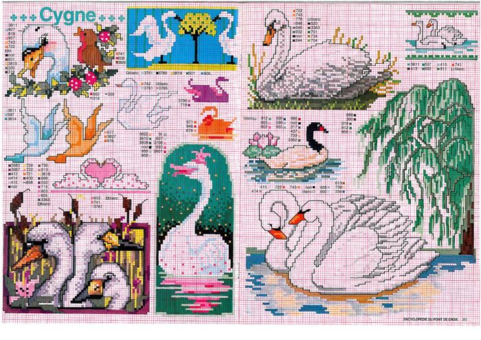 лебеди (700x495, 624Kb)