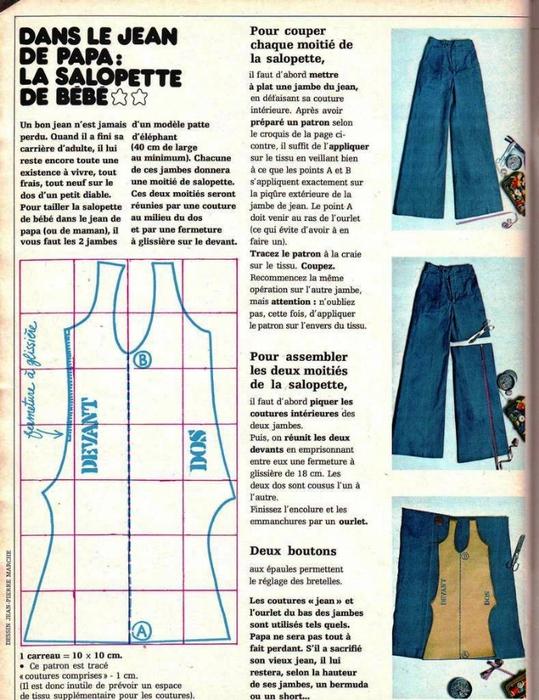 Какие брюки сшить из джинсовой ткани 65