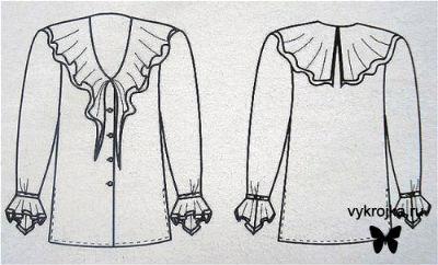 Это фото находится также в разделах: выкройка блузки с кокеткой и.