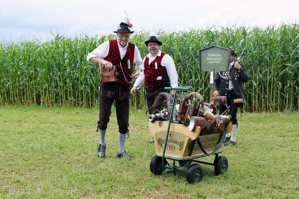 Германский праздник артиллеристов Боеллершутзенфест  (Boellerschuetzenfest), Чёнстет (Schonstett), 29 июля 2012 года