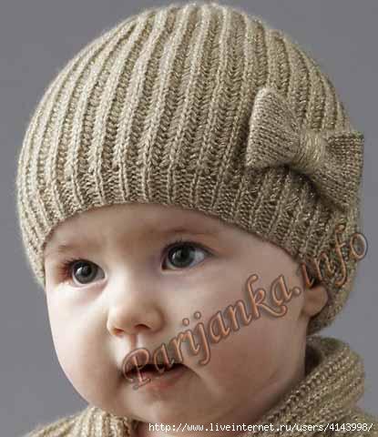 Вязание шапок с отворотом английской резинкой