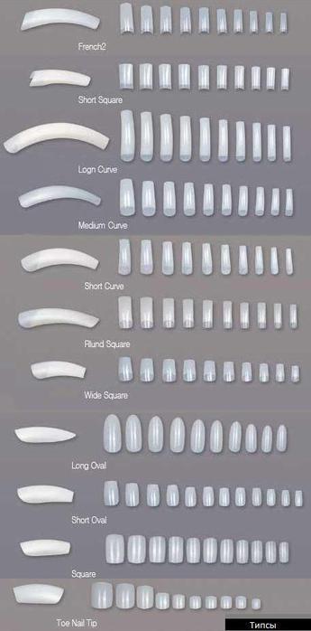 искусственные ногти,