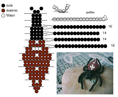 XO charity: как делать паука из бисера схема.
