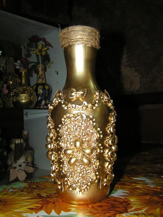 Как сделать из макарон вазу