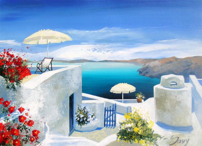 André Savy - Santorini Walkway - Tutt'Art@  (1) (700x506, 88Kb)