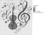 """Оригинал - Схема вышивки  """"Музыка в сердце """" - Схемы автора  """"meletopol """" - Вышивка крестом."""