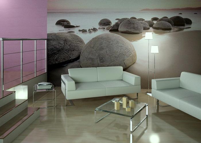 Дизайн интерьера комнаты с фотообоями
