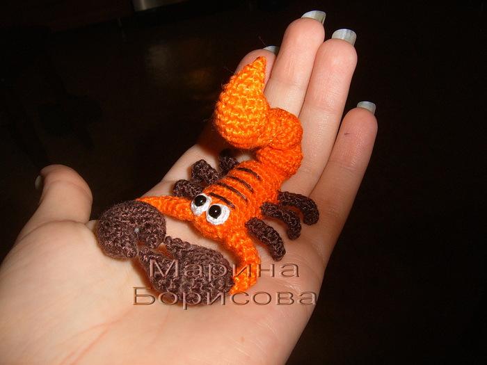 <вяжем скорпиона крючком
