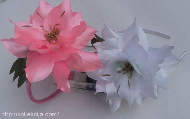 Лилии из атласных лент своими руками пошаговая инструкция
