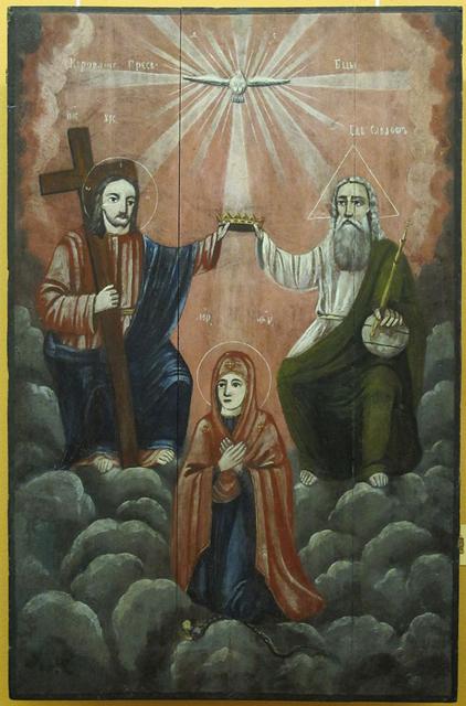 Коронование Богородицы. Русский Север. XIX век (422x640, 255Kb)