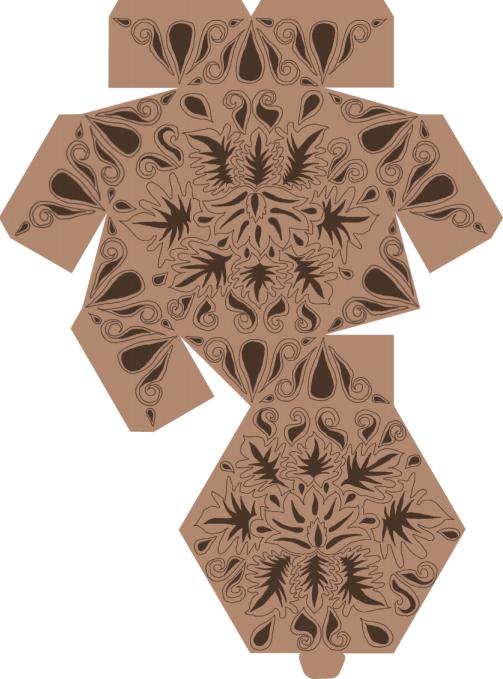 Коробочки для подарков своими руками. Шаблоны (6)