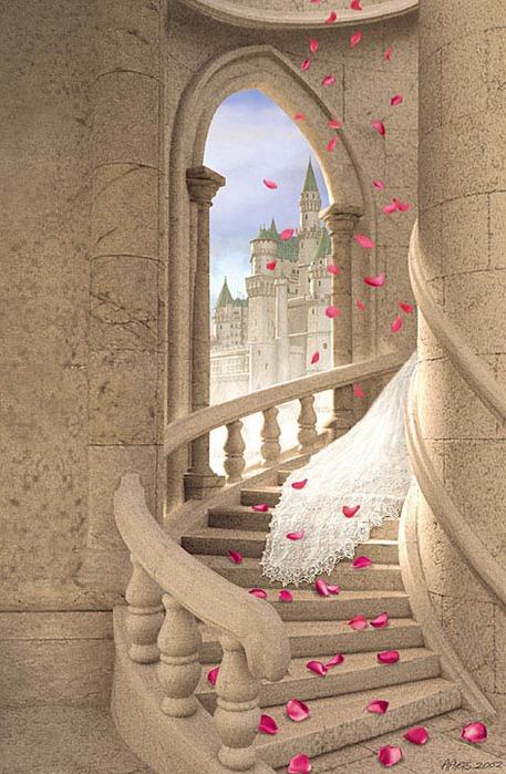 """Комментарии (стр. 1) - Схема вышивки  """"Лепестки роз на ступеньках """" - Схемы автора  """"ilya0042082 """" - Вышивка крестом."""