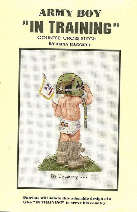 Схема вышивки крестом солдат 94