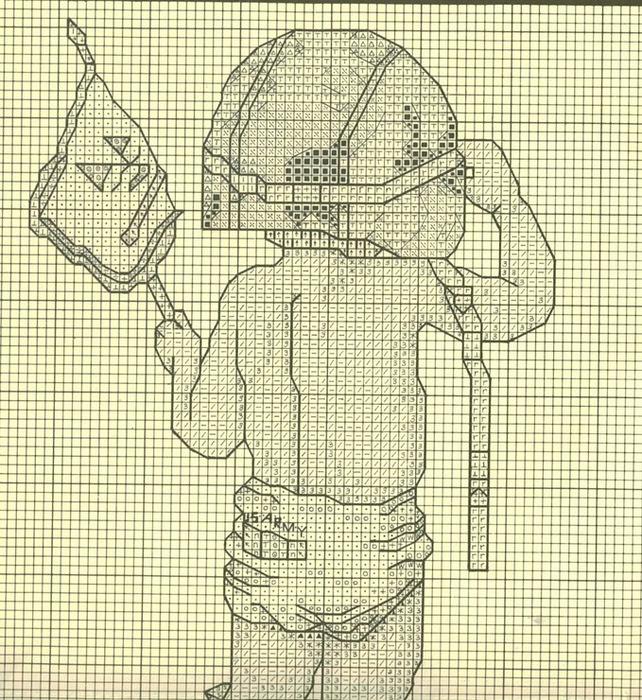 Вышивка. Юный солдат