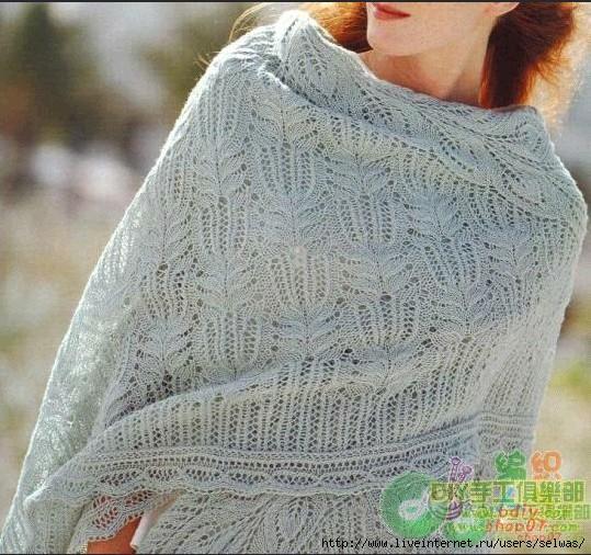 Схема узора для вязания шарфа