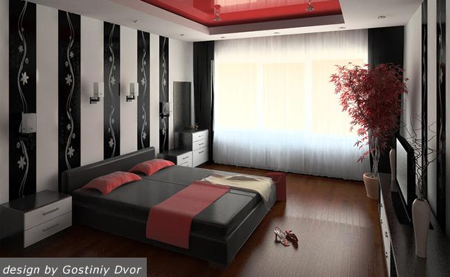 дизайн стен в спальне фото.