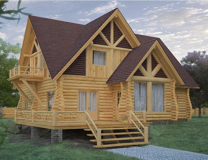 дом из дерева (663x512, 250Kb)