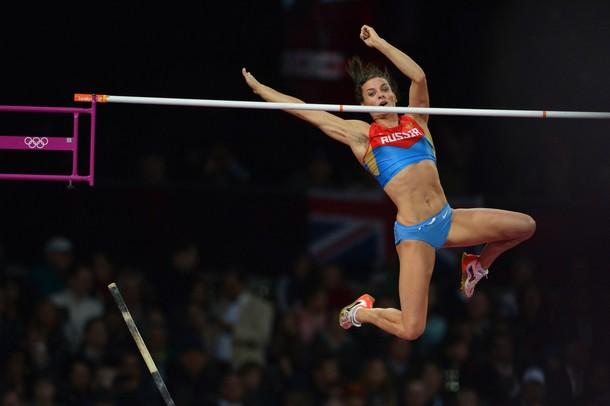 Елена Исинбаева на Олимпийских играх в Лондоне, 06 августа 2012 года