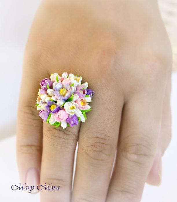 Как сделать кольцо с цветочком