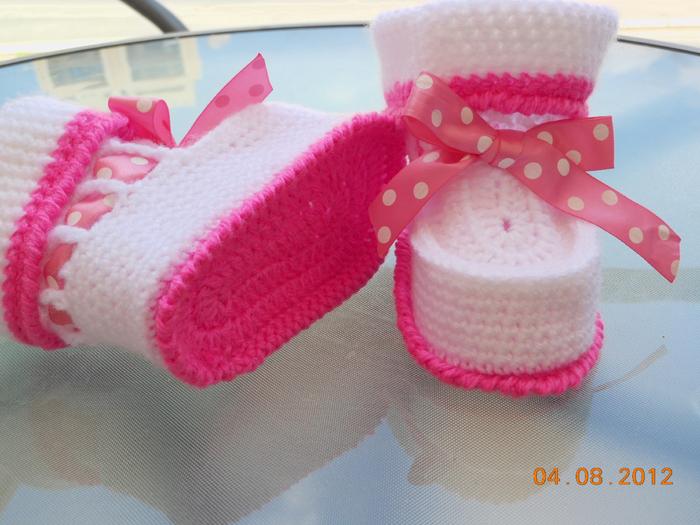 Вязание пинеток крючком с рюшами