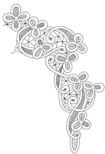 Схемы румынского кружева