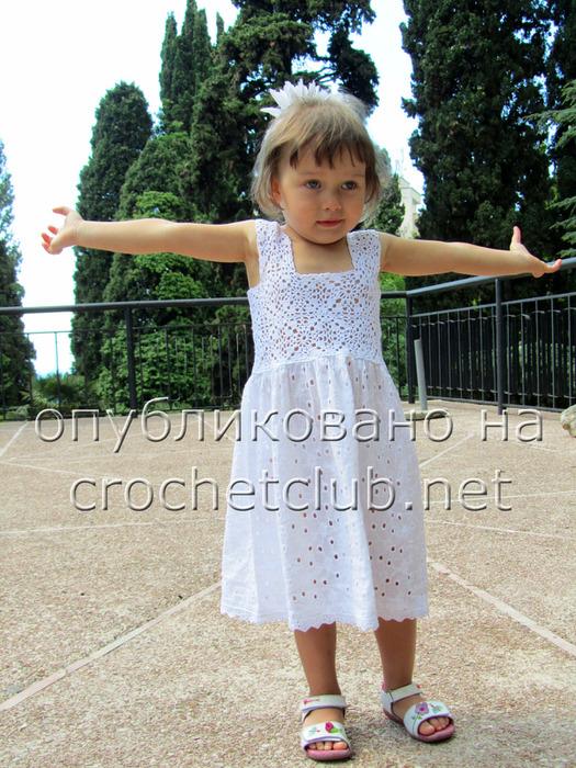 Вязание платья крючком для девочки до 1 года. Видео Вяжем детям 83