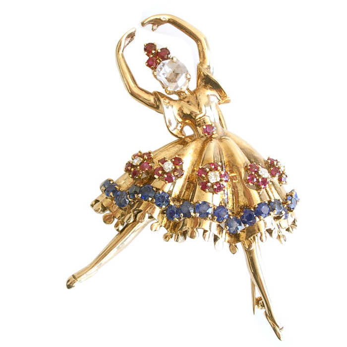 gold-diamond-and-gemstone-dancer-brooch-1.jpgThis same design is featured in the Van Cleef and Arpels Museum Collection. The sapphire. (700x700, 104Kb)