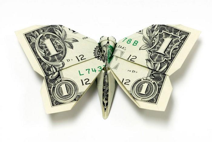 Креативные оригами из денег 1 (700x469, 66Kb)