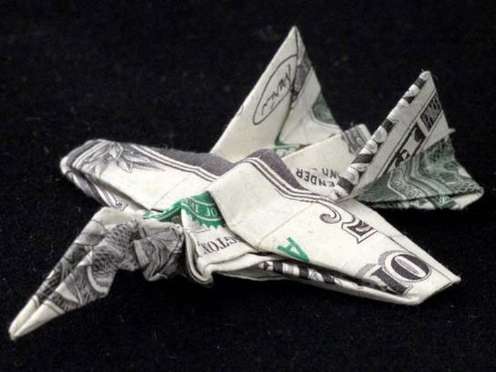 Креативные оригами из денег
