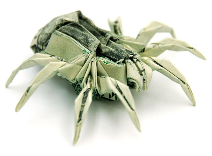 Креативные оригами из денег 6 (700x517, 49Kb)