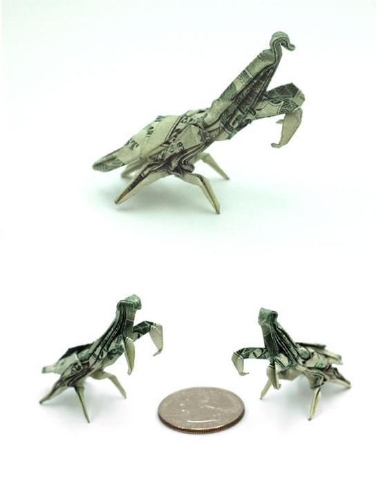 Оригами из денежных банкнот