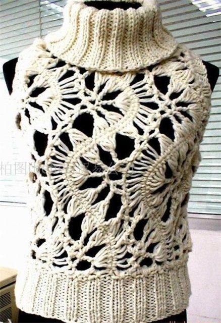 схемы вязание ажурных кофточек
