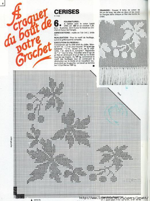 Филейное вязание схемы шаль 49