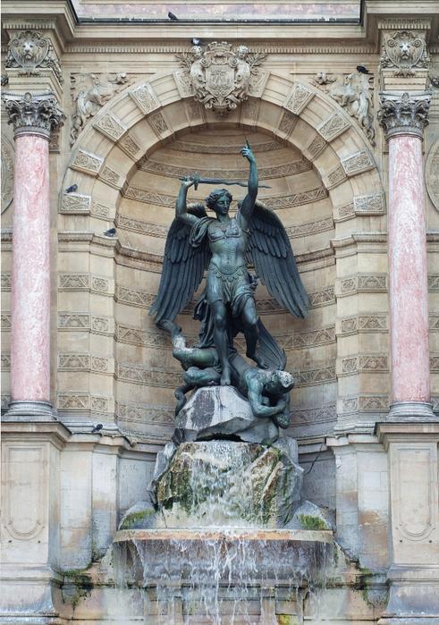 фонтан архангела михаила париж 1 (491x700, 498Kb)