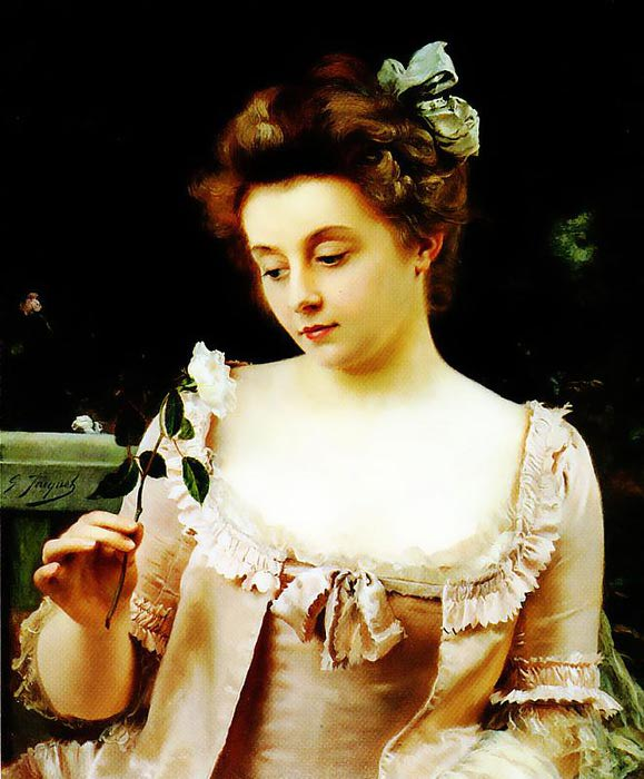 A Rare Beauty, by Gustave Jean Jacquet (579x700, 62Kb)
