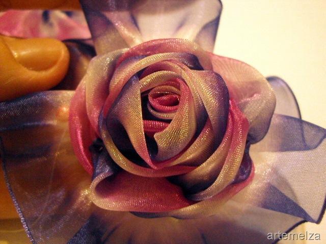 Розы с ткани своими руками фото