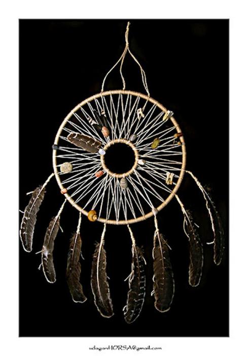 Ловец снов - красивый индейский амулет 4 (489x700, 201Kb)